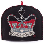 TC38 Wool Crown Tea Cosy(Black)