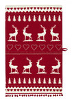 UT004 Christmas Stag Tea Towel