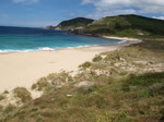 Malerischer Strand von Finisterre.