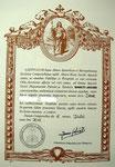 Pilgerurkunde Compostela