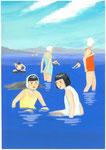 函館の海水浴
