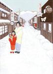 吉川千鶴『胡蝶の灯り」装画 幻冬舎 原画