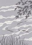 川上弘美「神様」挿絵・練習1、2014
