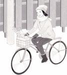 「週刊金曜日」連載主婦の科学・アズマカナコ著、自転車でお買いもの 2014