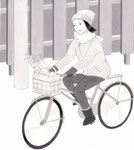 「週刊金曜日」連載主婦の科学・アズマカナコ著、自転車でお買いもの