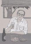 「池波正太郎のそうざい料理帖」夏・挿絵練習 2017