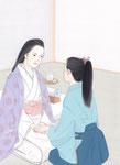 葉室麟「潮騒はるか」幻冬舎 月間ポンツーン9月号原画