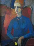 la jeune fille en bleu      coll.privée