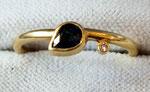 Ring, Gr. 57, Brillant 0,013ct TWvsi