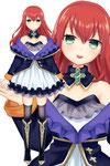 結城焔さん(キャラデザ・モデル)ボリューム感のある衣装でバイバイが印象的なキャラデザに仕上がりました