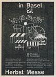 Das «Herbschtmäss«-Inserat für die Herbstmesse Basel in den Basler Zeitungen, 1969