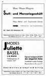 46) Wwe.Meyer-Wagner Stoff-& Merceriegeschäft   /    Modes Juliette