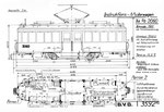 Instruktions-Motorwagen Xe 2/2 Nr.2060 (Zeichnung BVB)