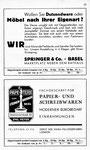 23) Springer&Co Möbelfachgeschäft und Papeterie zum Steinenbrunnen