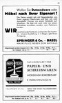 23) Springer&Co Möbelfachgeschäft   /   Papeterie zum Steinenbrunnen