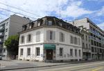Das ehemalige, gemütliche Quartier-Restaurant «St.Johann» am St.Johanns-Platz/Ecke Elsässerstrasse, heute die gemütliche Pizzeria «Da Gianni« vor dem sinnlosen Abriss bedroht, 2016