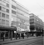 Der neue Migros-Markt Claraplatz mit der EPA, 1969