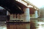 Die Wettsteinbrücke von der Kleinbasler Seite aus gesehen, 1980