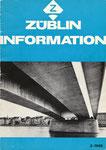 Die ZÜBLIN-Informationsbroschüre 2-1968 mit allen technischen Details zum Neubau der Johanniterbrücke  (Diese Broschüre ist im Besitz des Autoren)