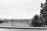 Blick von der alten Dreirosenbrücke in Richtung Innerstadt, 1970
