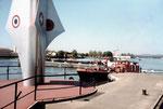 Der Dreiländereck mit Schiffsverkehr, 1984
