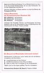Inserat der Schweizerischen Reederei im Offiziellen Stadtplan von Basel 1963