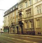 Die Häuserreihe an der Missionsstrasse gegen den Burgfelderplatz, 1983