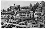 Ansichtskarte Basel. Barfüsserplatz (Rud.Suter Oberrieden ZCH)