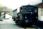 Die Dampflokomotive der VON ROLL in Choindez 1995