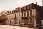 Häuserreihe am Steinengraben, die für einen Neubau der National-Versicherung geopfert wurden, 1983
