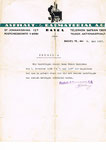 Ein Zeugnis der «Asphalt- & Baumaterial AG Basel» vom Mai 1927