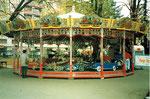 Die Basler Herbstmesse auf der Rosentalanlage mit der beliebten Resslirytt,i 1986