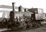 Die Rheinhafen-Dampflokomotive E 3/3 «Tigerli» 8474 der Schweizerischen Reederei an einem Sonntagvormittag,  1973 (Diese Lokomotive steht nun im Locorama in Romanshorn)