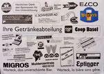 Sponsorenblatt von der Feier «600 Joor Glai und Gropssbasel», 1992