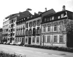 Die Häuserreihe am Steinengraben, 1970 (kurz nach diesem Foto wurde die gesamte Häuserreihe abgerissen)
