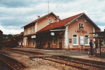 Der Bahnhof von Wehr/Baden im Jahre 1982, damals leider nur noch Güterverkehr