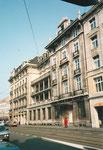 Das markante Gebäude der ehemaligen BIZ an der Centralbahnstrasse, 1975