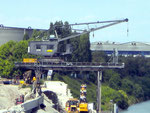 Der letzte Kran im St.Johann-Hafen (SPEDAG) kurz vor dem Abbruch 2011  (leider wurde keiner der Kräne als technisches Denkmal und als Erinnerung an den St.Johann-Hafen stehen gelassen! - typisch Basel?)
