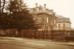 Die Verwaltungsgebäude des Schlachthofs an der Elsässerstrasse, 1975