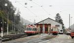 Die Depotanlagen der «Waldenburger Bahn WB» in Waldenburg, Oktober 2019