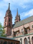 Blick vom Kreuzgang auf die Münstertürme, 1998