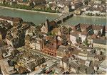 Ansichtskarte Basel. Basler Innerstadt. Rückseite der Karte durch aufkleben beschädigt. Verlag & Photo?
