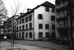 Kleinhüningen, Dorfstrasse 46, ehem. Gasthaus Drei Könige, danach Buchdruckerei Hutter, 1980