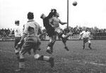 Der FCB-Torhüter Paul Wechlin im Match FC Brühl St.Gallen - FC Basel am 14.Juli 1941
