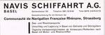 Inserat der »NAVIS Schifffahrt AG Basel» in der Zeitschrift «Strom und See» 1964
