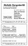 48) Obsthalle Claragraben Strickler   /    Blumenhaus Oskar Moll