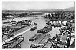 Ansichtskarte Basel. Rheinhafen Hafenbecken 1 (Photo und Verlag Gebr.Frey, Basel)
