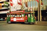 Der Trammotorwagen Be 2/2 Nr. 190 fuhr während der BÜFA 1983 für die ELCO die Passagiere vom Bahnhof zur Mustermesse und zurück
