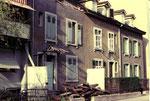 Der Abbruch des Hauses Bläsiring 125 der Familie Jäger im Jahre 1975