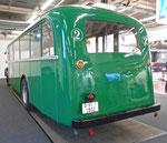 Hinteransicht des frisch renovierten Oldtimer-Busses der BVB an der MUBA 2016